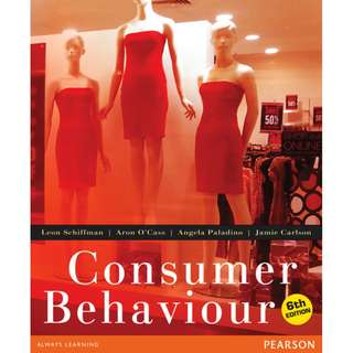 FREE SHIPPING - Consumer Behaviour 6th Edition + extensive notes on all lectures (usyd)