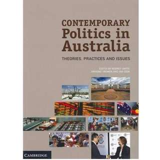 FREE SHIPPING - Contemporary Politics in Australia + extensive notes (usyd)