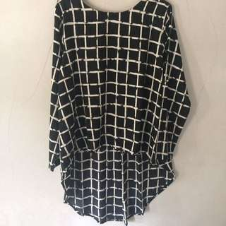 Square Bnw Blouse