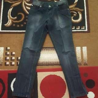 Celana Jeans Hitam Abu