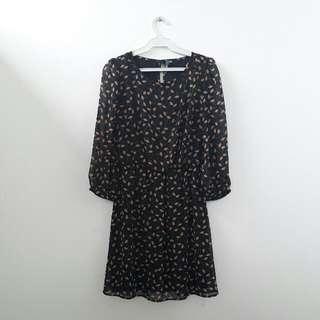 E-vie Black Printed Dress