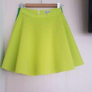 Her Velvet Vase hvv Lime Skirt NWT