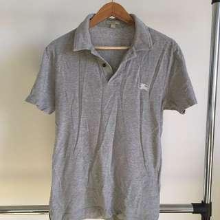 Burberry Grey Polo Tshirt