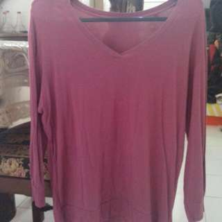 Pink Shirt Long Sleeves Size L