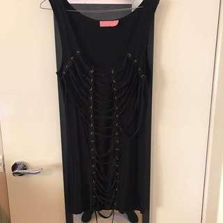 Wish Black lace Up Dress