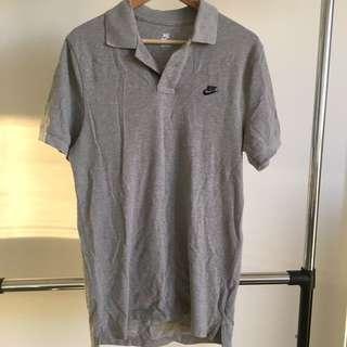 Nike Grey Polo Shirt Size S