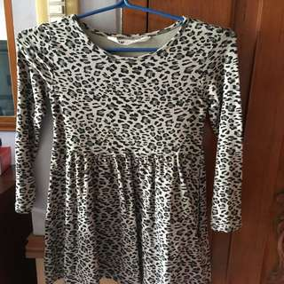 H&M animal Print Dress