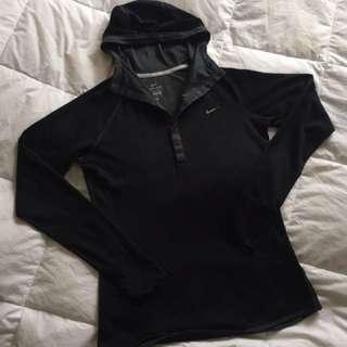 Nike Dri Fit Long Sleeve Hooded Top