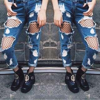 Dolls Kill Ripped Jeans