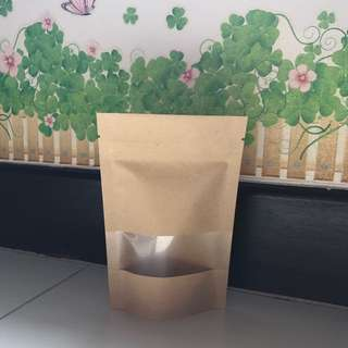 [READY STOCK] Kraft/Brown Paper Ziplock Bag 10x15cm