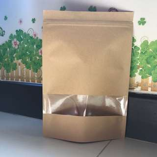 [READY STOCK] Kraft/Brown Paper Ziplock Bag 18x26cm
