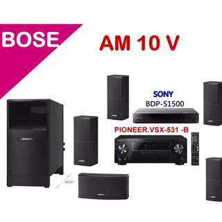 BOSE 家庭劇院組合 AM-10 V+PIONEER.VSX-531 +SONYBDP-S1500運費另計Freight separately
