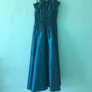 Formal Dress Blue-green