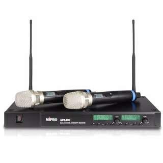 MIPRO ACT-880 UHF雙頻道純自動選訊無線麥克風.可調頻112個運費另計Freight separately