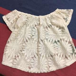 Sunflower Lace Off Shoulder