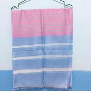 Pashmina Stripe Blue Pink