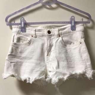 🚚 H&M白色短褲