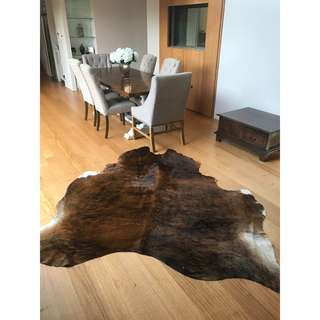 100% GENUINE Brown Cowhide Rug NEW and in PERFECT CONDITION 2.2m x 2.2m