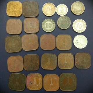 Straits Settlements, Malaya Coins Mixed Coins Lot  1cents, 5cents & 10 Cents Clearance Sales.