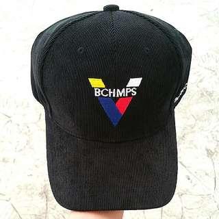 BORN CHAMPS BLACK BASEBALL CAP