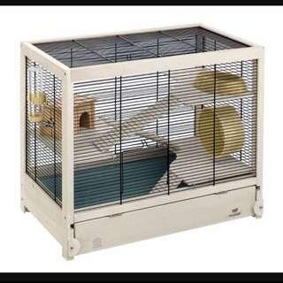 (URGENT)Big Ferplast Wooden Hamster Cage