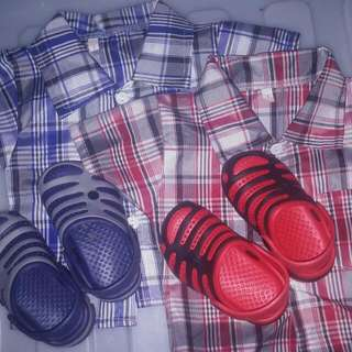 Checkered Polo And Shoes