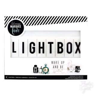 Lightbox With Letters