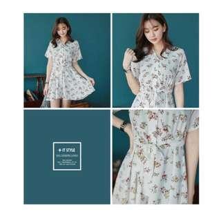 Ivory Floral Spring/Summer Dress