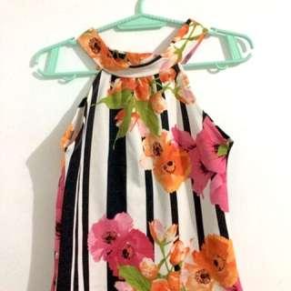 Terno (floral) (halter Top & Skirt)