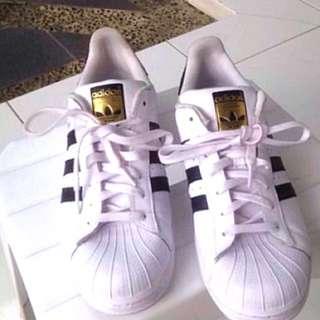 Adidas Superstar Black&White (Gold)