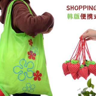Tas Belanja Strawbery - Tas Lipat Strawbery - Eco Bag Strawbery