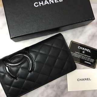 Authentic Chanel Wallet Lambskin 長銀包 full set
