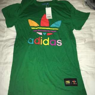Pharrell Williams Adidas Green Tshirt Small