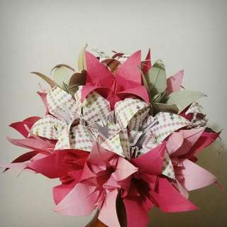 [Pre-Order] Whimsical Blush Lily Origami Bouquet