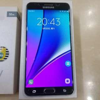Samsung 三星 Note 5 手機 銀色32GB 盒裝配件完整