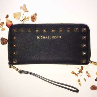 Michael Kors Studded Leather Wallet