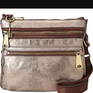 Fossil Sling Bag..gold Color..condition 9/10,preloved,