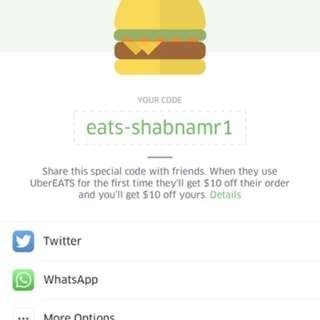 $10 Off Uber Eats