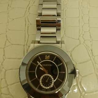 🚚 SWAROVSKI黑水晶手錶