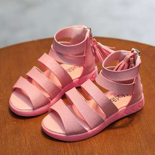 Pink Girls Gladiator Shoes (2y and above)