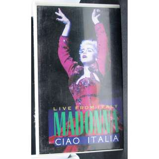 中古 絕版 VHS 錄影帶 Video Tape Madonna Live from Italy Ciao Italia 意大利 演唱會 concert 麥當娜