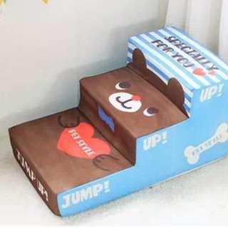 全新 (現餘少量)PetStyle 卡通日系藍色三層 寵物樓梯 狗階梯 階級 階級 梳化 傢俬 寵物用品
