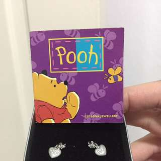 Lee Hwa White Gold Earrings Winnie The Pooh