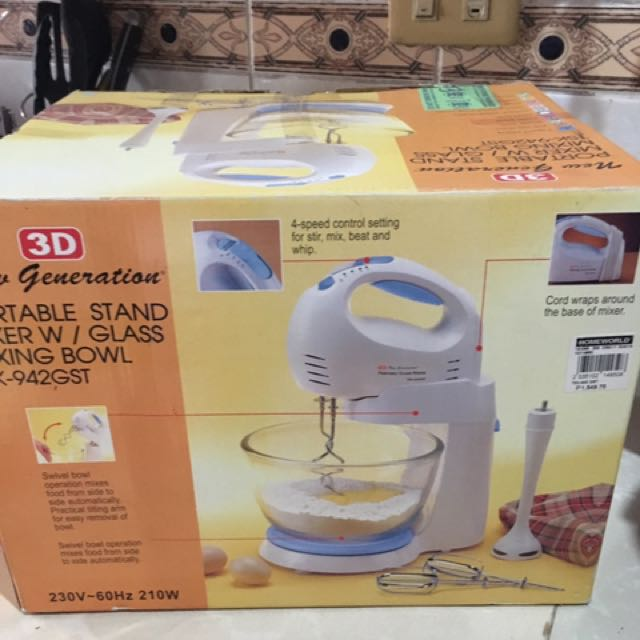 3D Hand Mixer With Stand And Bowl