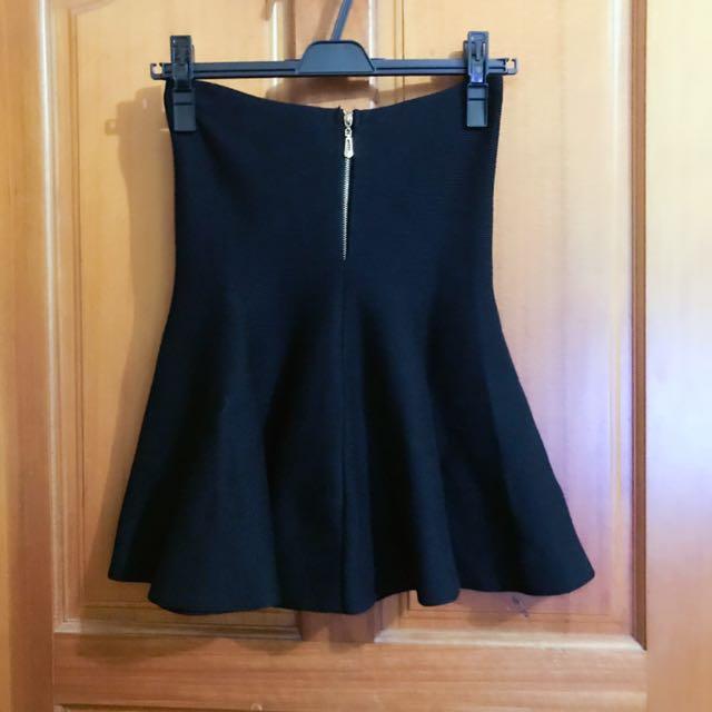 顯瘦高腰針織圓裙