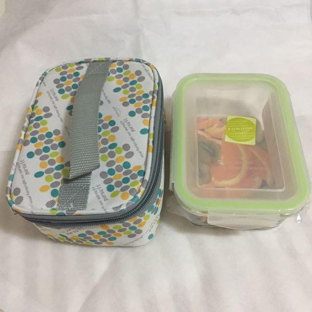 耐熱玻璃保鮮盒提袋組