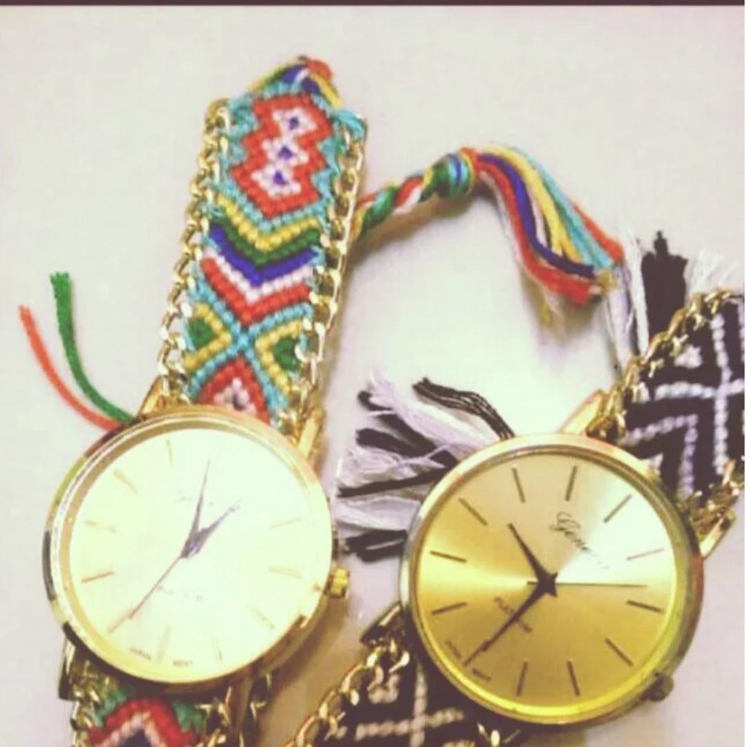全新 民族風編織手錶