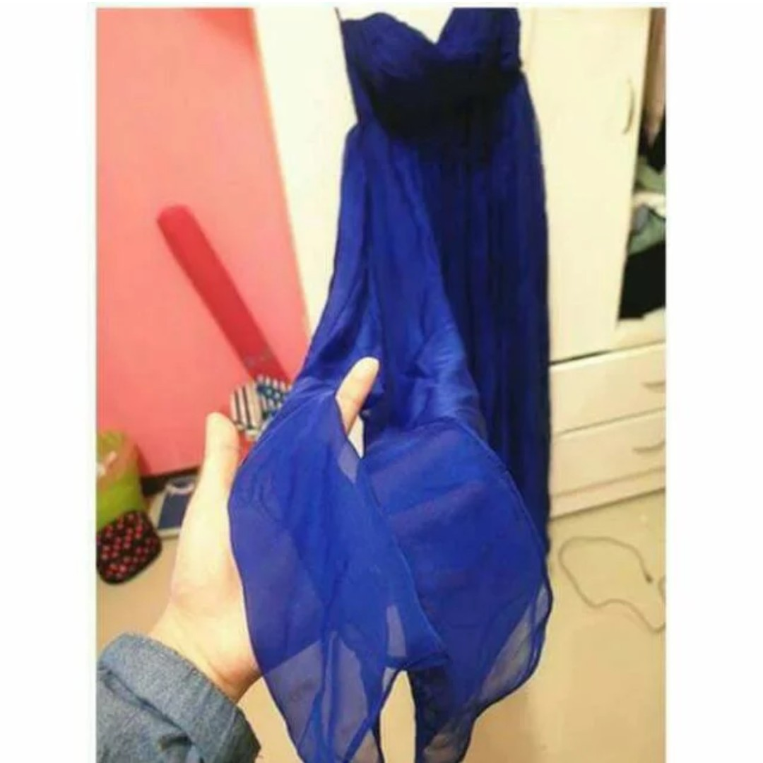 氣質飄逸 顯瘦寶藍禮服
