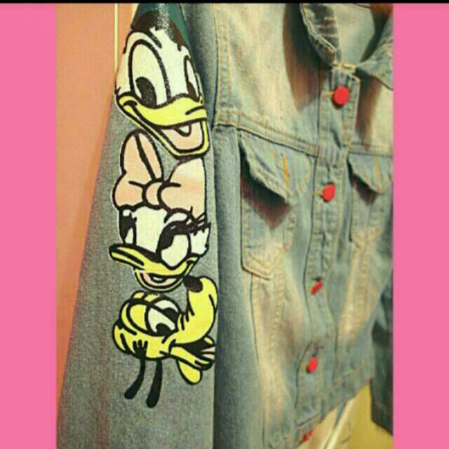 全新 韓版 米奇米妮 唐老鴨迪士尼牛仔外套