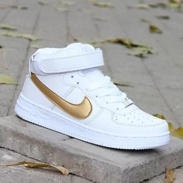 low nike air force 1 gold tick shoes